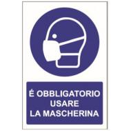 CARTELLO OBBLIGO MASCHERINA