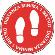 SEGNALE ADESIVO DISTANZA MINIMA 1 MT