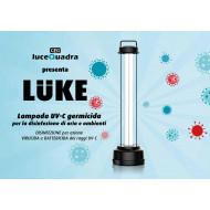 "LAMPADA GERMICIDA A RAGGI UV-C ""LUKE"""